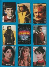 Collectible playing cards Star Trek, The wrath of Khan 1982,